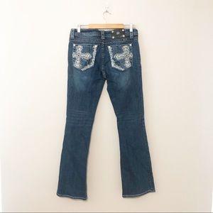 Miss Me Jeans Signature Boot Cut Dark Wash Sz 31
